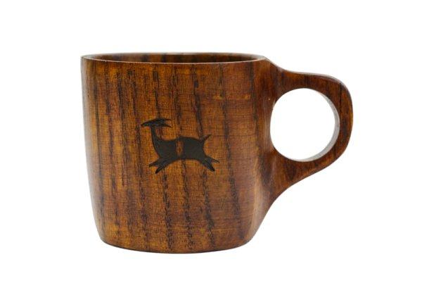 画像1: カモシカオリジナル 木のマグカップ (1)