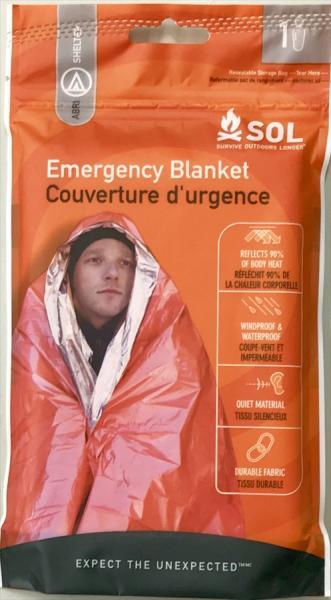 画像1: 【特別価格 10%OFF 】SOL Emergency Blanket エスオーエル エマージェンシーブランケット(1人用) (1)